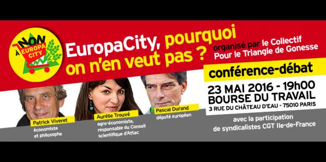 Débat public sur EuropaCity: venez dire non à ce projet les 23 et 26 mai à Paris et le 30 mai à Saint-Denis!